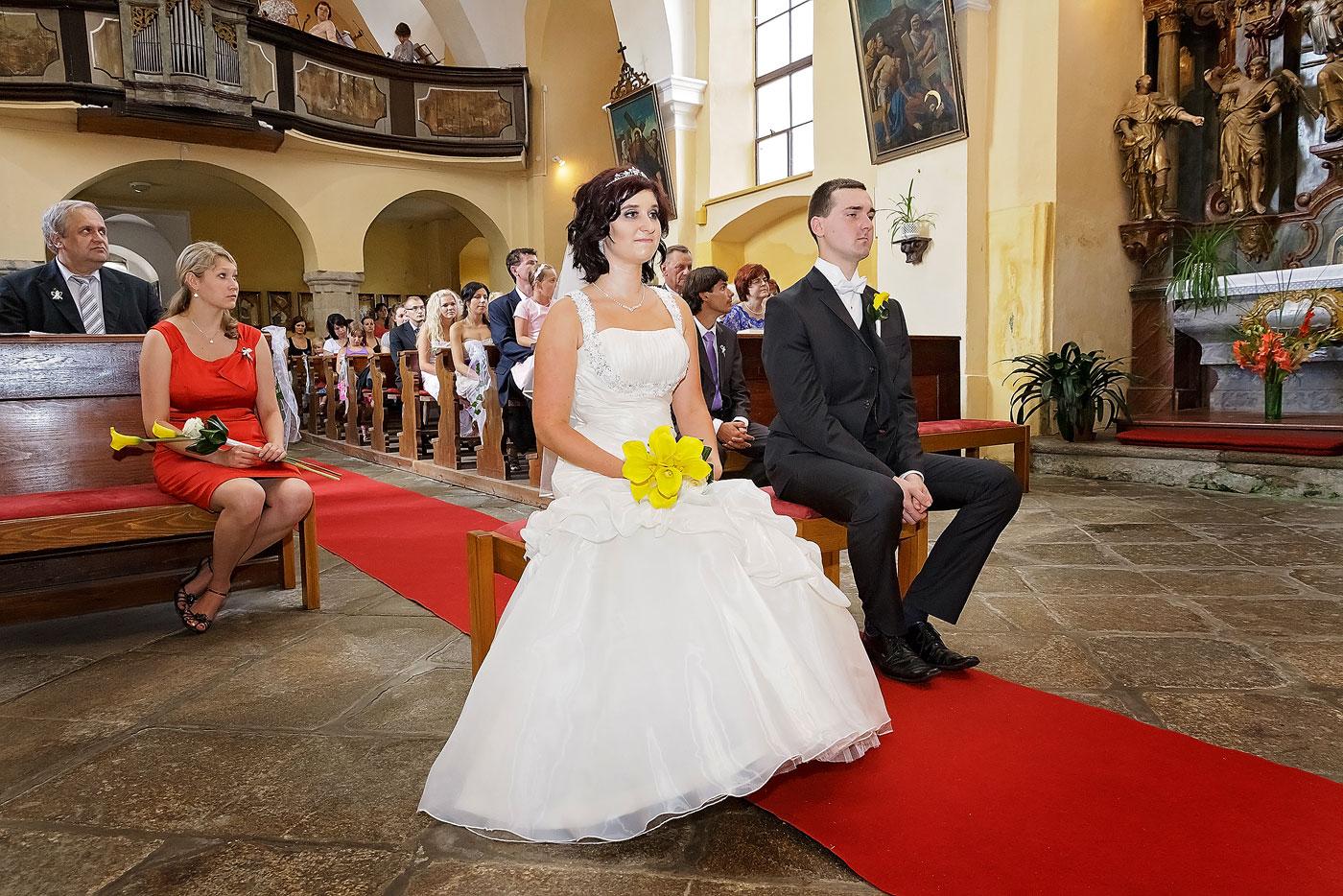 Svatba v kostele - Velešín