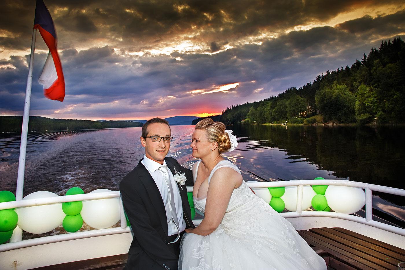 Svatba západ slunce - Lipno